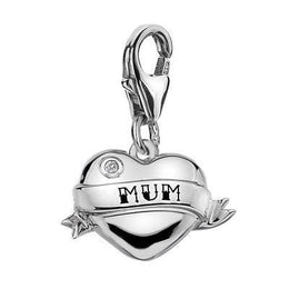 Hot Diamonds Mum Heart Sterling Silver Charm DT276