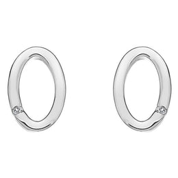 Hot Diamonds Orbit Sterling Diamond Stud Earrings DE415