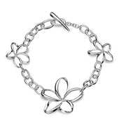 Hot Diamonds Paradise Sterling Silver Diamond Open Petal Bracelet. DL151.