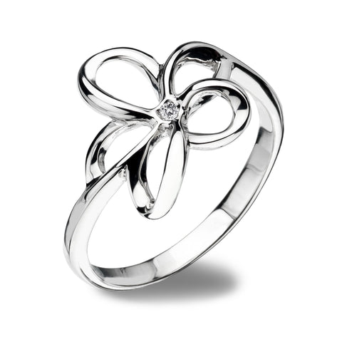 Hot Diamonds Paradise Sterling Silver Open Petal Ring D