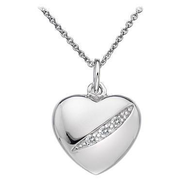 Hot Diamonds Shooting Stars Sterling Silver Heart Necklace DP398