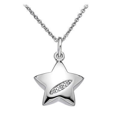 Hot Diamonds Shooting Stars Sterling Silver Necklace DP400
