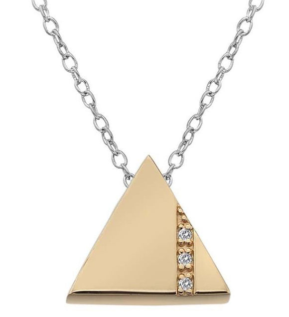 Hot Diamonds Silhouette Rose Gold Plated Triangle Necklace DP597