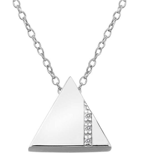 Hot Diamonds Silhouette Sterling Silver Triangle Necklace DP596