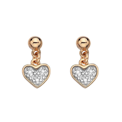 Hot Diamonds Stargazer Sterling Silver and Rose Gold Plated Earrings
