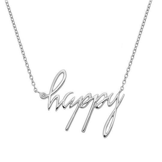 Hot Diamonds Sterling Silver Happy Necklace DN100