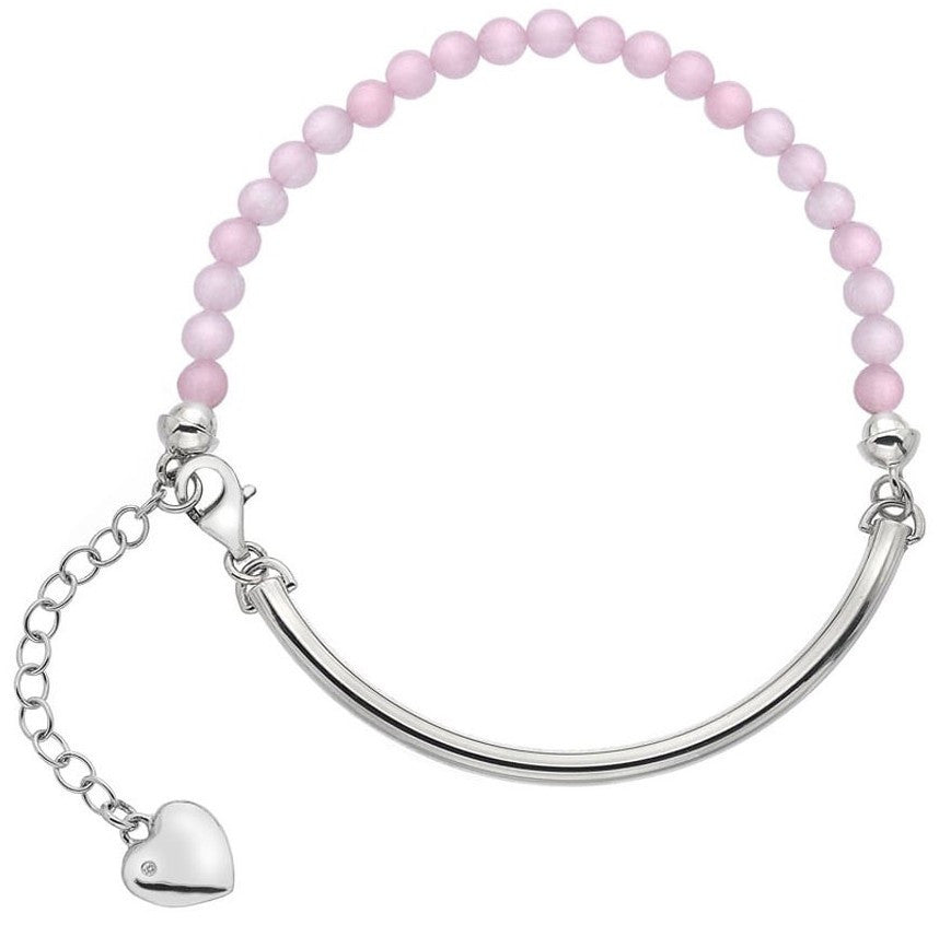 Hot Diamonds Trend Sterling Silver Rose Quartz Festival Bracelet