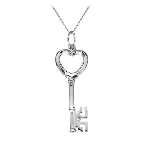 Hot Diamonds Unlocked Sterling Silver Heart Necklace D