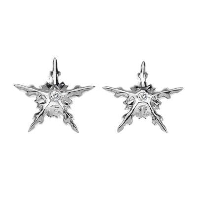 Hot Diamonds Winter Wonderland Sterling Silver Star Earrings DE311
