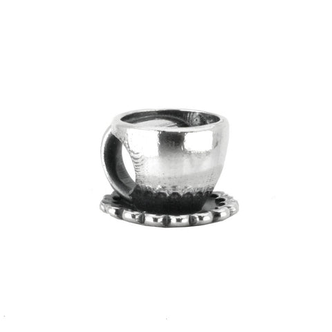 Alice In Wonderland Collection Charm Cup And Saucer Silver