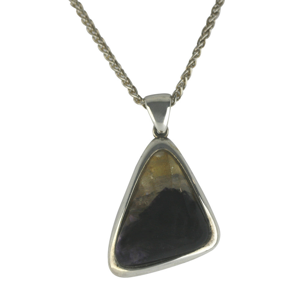 Blue John Necklace Triangular Silver