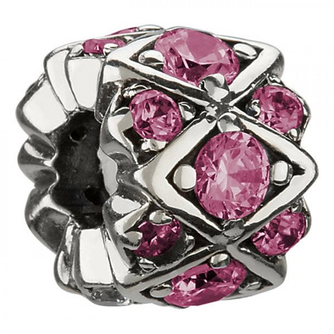Chamilia Charm Shimmering Stones Pink