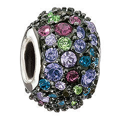 Chamilia Charm Jewelled Kaleidoscope Mixed & Black