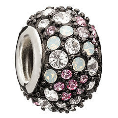 Chamilia Charm Jewelled Kaleidoscope Pink & Black
