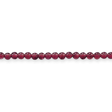 Thomas Sabo Necklace Silver & Garnet Bead 70cm Chain