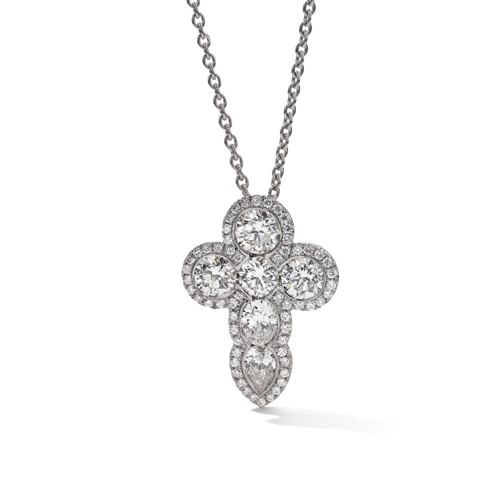Hans D. Kreiger Pendant Diamond Cross