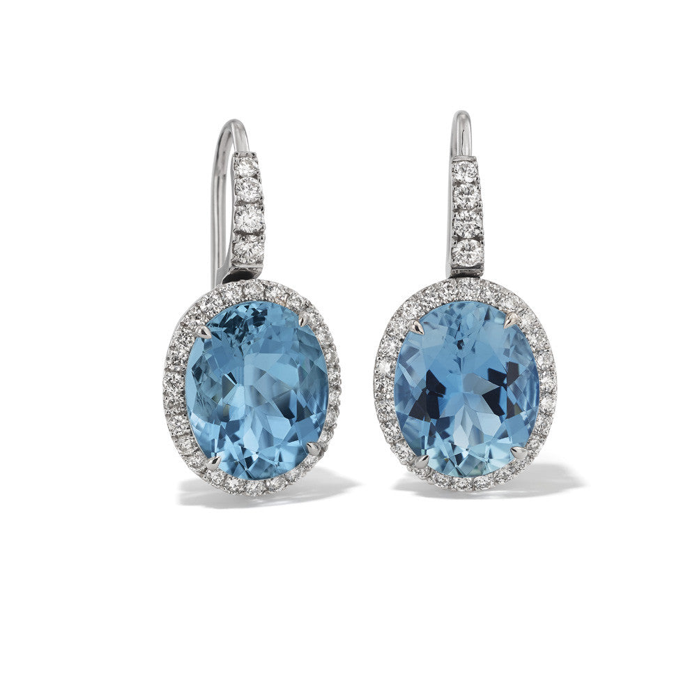 Hans D. Kreiger Earrings Aquamarine