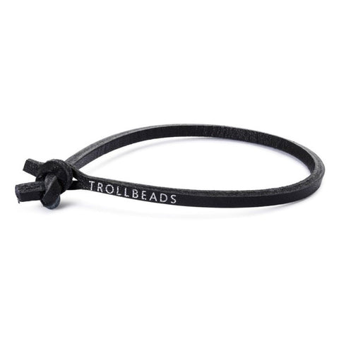 Trollbeads Bracelet Black Leather