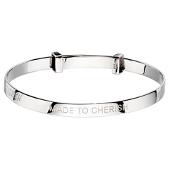 Little Star Sterling Silver Cherish Baby Bangle