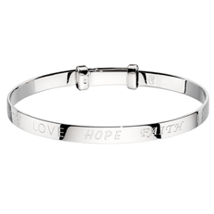 Little Star Sterling Silver Faith Baby Bangle