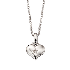 Little Star Bella Sterling Silver Heart Necklace