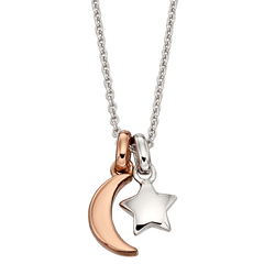 Little Star Collette Sterling Silver Star & Moon Necklace