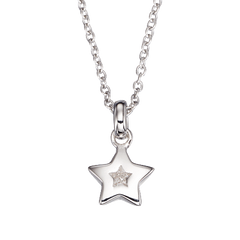 Little Star Kirsty Sterling Silver Diamond Star Necklace