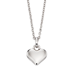 Little Star Mia Sterling Silver Heart Necklace