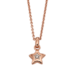 Little Star Rei Rose Gold Vermeil Diamond Star Necklace