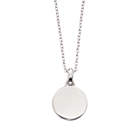 Little Star Sterling Silver Disc Bobbi Necklace