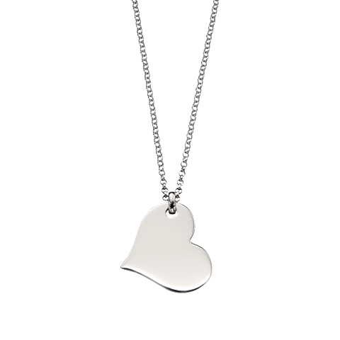 Little Star Sterling Silver Heart Nina Necklace