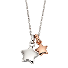 Little Star Suki Sterling Silver Double Star Necklace