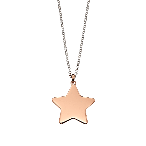 Little Star Tori Sterling Silver Rose Gold Star Necklace
