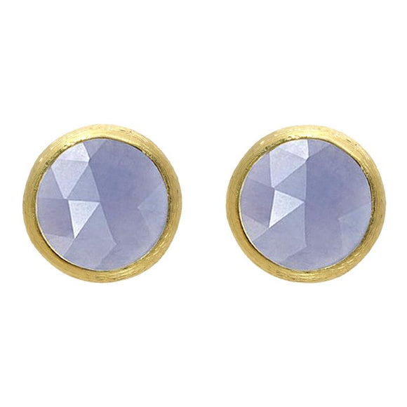 Marco Bicego Jaipur 18ct Yellow Gold Chalcedony Petite Stud Earrings, OB957 CA01.