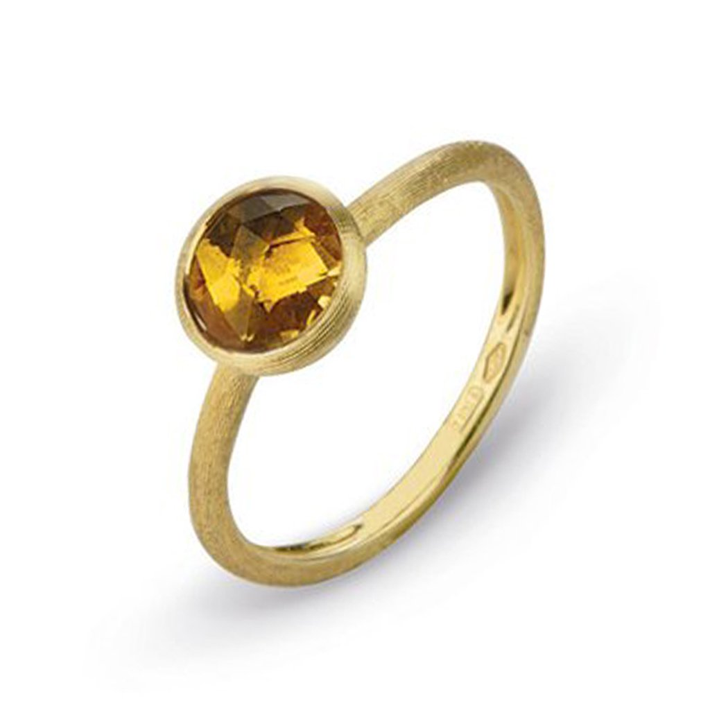 Marco Bicego Jaipur 18ct Yellow Gold Yellow Quartz Ring