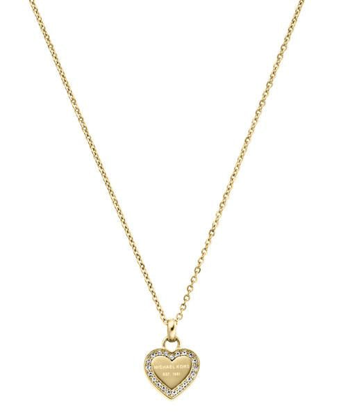 Michael Kors Yellow Gold Heart Heritage Pendant MKJ3969710