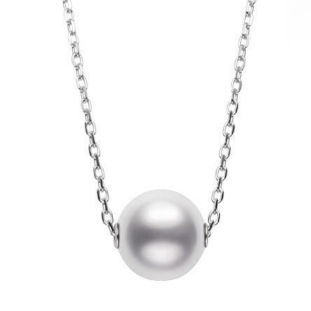 Mikimoto 18ct White Gold 10mm White A+ South Sea Pearl Necklace, PP 20295N W.