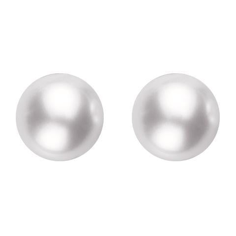Mikimoto 18ct White Gold 6mm White Grade AAA Pearl Stud Earrings, PES 605 W.
