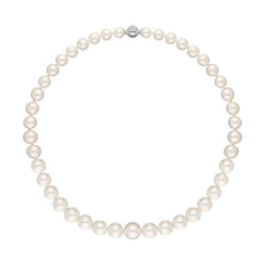 Mikimoto 18ct White Gold Diamond 9.0mm-12.8mm White South Sea Pearl Necklace