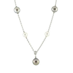 Mikimoto 18ct White Gold Diamond A+ South Sea Pearl Necklace