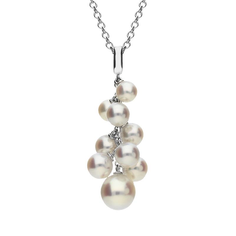 Mikimoto 18ct White Gold Pearl 'Marshmallow' Necklace