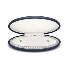 Mikimoto 18ct Yellow Gold Pearl Akoya Pearl Necklace & Stud Earrings Gift Set