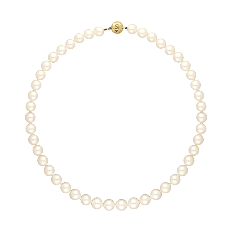 Mikimoto 18ct Yelow Gold 8mm Akoya A1 Pearl Necklace