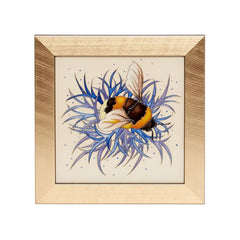 Moorcroft Limited Edition Broken Belted Bee Plaque
