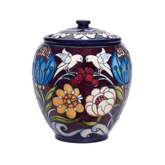 Moorcroft Limited Edition Chasuble Lidded Jar