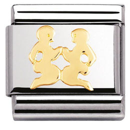 Nomination Composable Classic Stainless Steel Gold Gemini Charm 030104 03