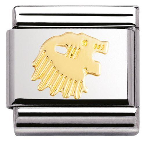 Nomination Composable Classic Stainless Steel Gold Leo Charm 030104 05