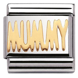 Nomination Composable Classic Stainless Steel Gold Mummy Charm 030107 21