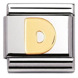Nomination Composable Classic Stainless Steel Yellow Gold Letter D Charm 030101 04