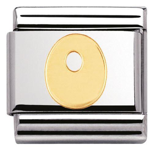 Nomination Composable Classic Stainless Steel Yellow Gold Letter O Charm 030101 15